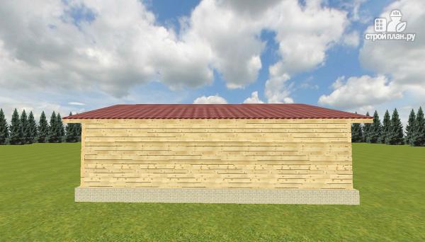 Фото 7: проект баня из бруса с односкатной крышей и террасой