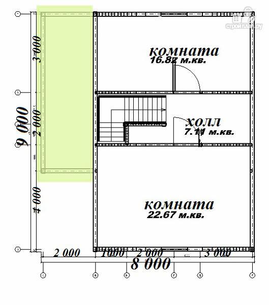 Фото 4: проект дом из бруса 8х9