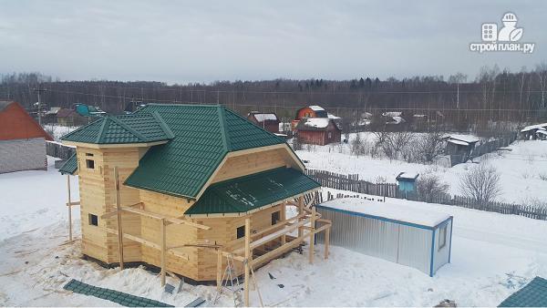 Фото 14: проект дом из бруса 7х9 с эркерами
