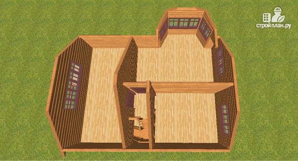 Фото 13: проект дом из бруса 7х9 с эркерами