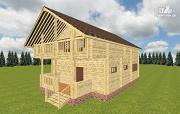 Проект дом из бруса 8х11