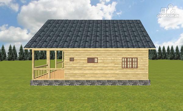 Фото 10: проект дом из бруса с террасой и балконом