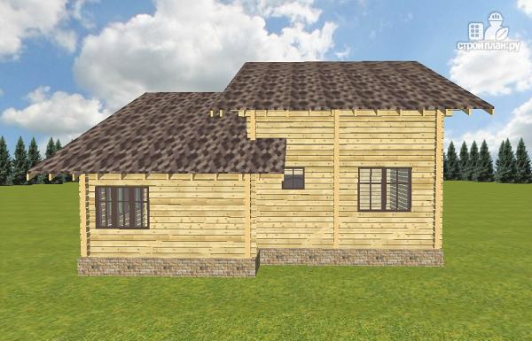 Фото 3: проект дом из бруса разноэтажный со вторым светом