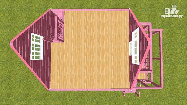 Фото 13: проект дом из бруса 6х6 с террасой и балконом
