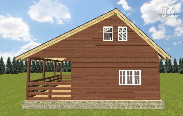 Фото 10: проект дом из бруса 6х6 с террасой 6х3