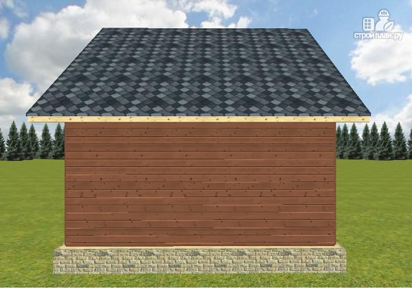 Фото 11: проект дом из бруса 6х6 с террасой 6х3