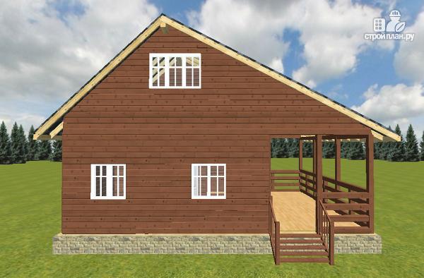 Фото 8: проект дом из бруса 6х6 с террасой 6х3