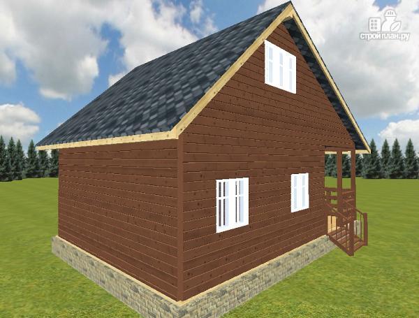Фото 12: проект дом из бруса 6х6 с террасой 6х3