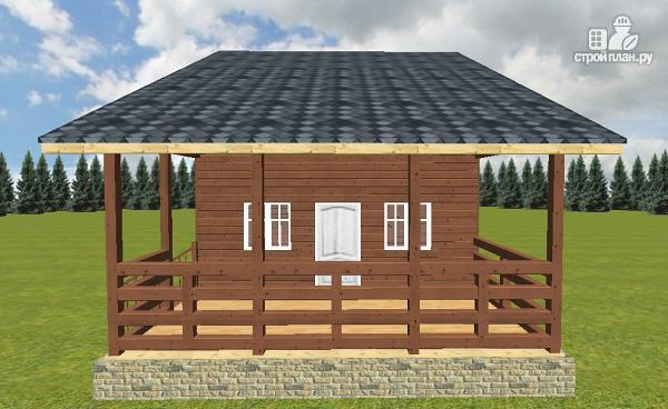 Фото 9: проект дом из бруса 6х6 с террасой 6х3