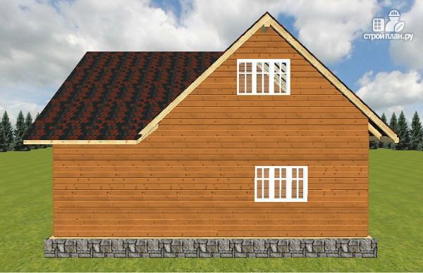 Фото 10: проект дом из бруса с террасой