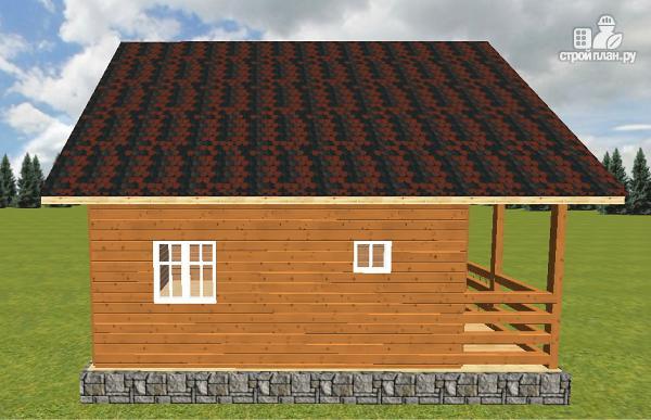 Фото 11: проект дом из бруса с террасой