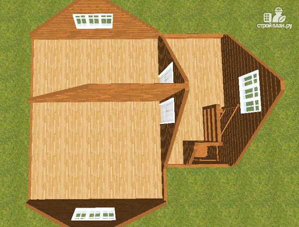 Фото 7: проект дом из бруса с террасой