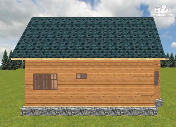 Фото 10: проект дом из бруса 8х9 с эркером и террасой