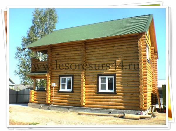 Фото Сруб деревянного дома под ключ