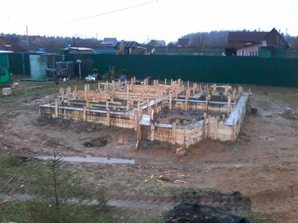 Фото Строительство ленточного фундамента