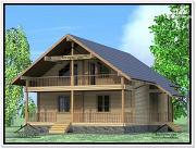 Проект дом из бруса 9х12