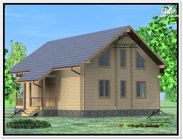 Фото 4: проект дом из бруса 9х12