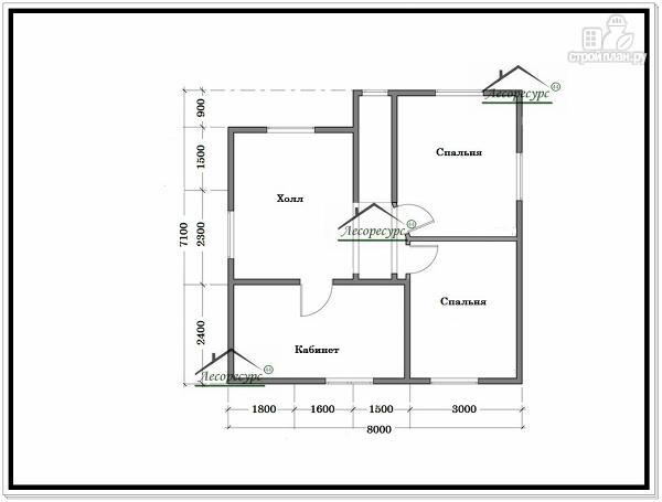 Фото 6: проект дом из бруса 9 × 9