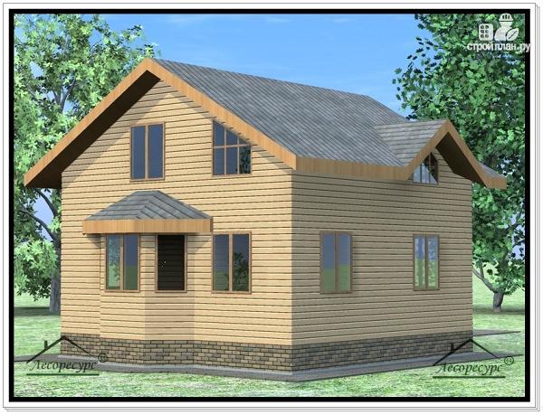Фото 3: проект дом из бруса 9 × 9