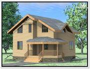 Проект дом из бруса 9 × 9