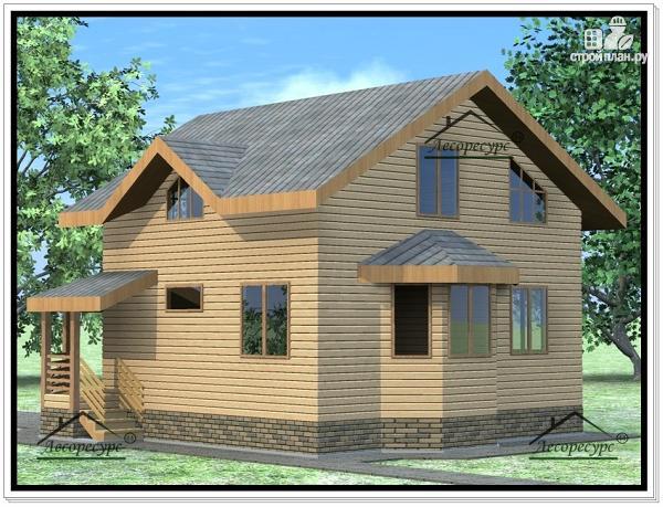 Фото 4: проект дом из бруса 9 × 9