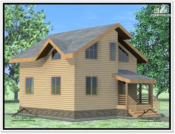 Фото 2: проект дом из бруса 9 × 9