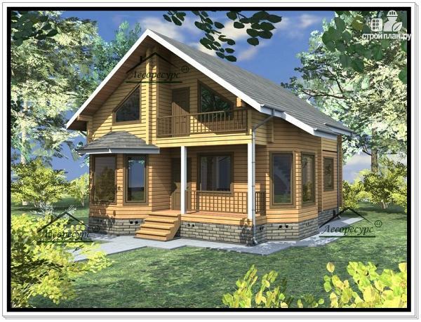 Фото: проект дом из бруса 9 × 12