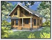 Фото: дом из бруса 9 × 12