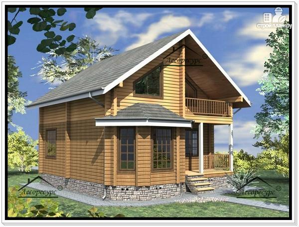 Фото 2: проект дом 8,7 × 8,8