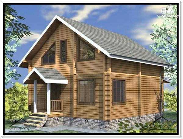 Фото 3: проект дом 8,7 × 8,8