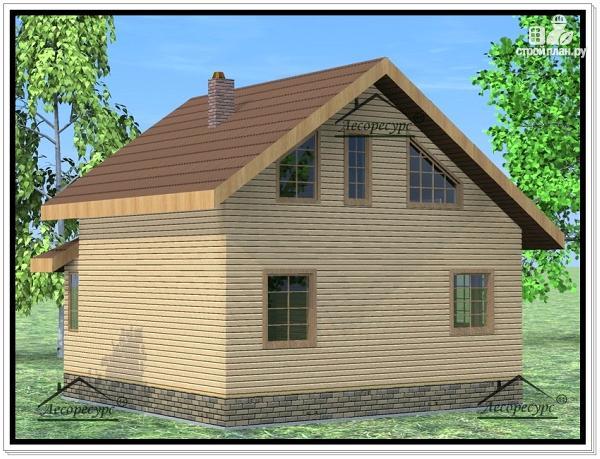 Фото 4: проект дом из бруса 7 × 8