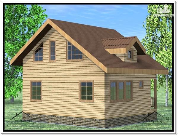 Фото 3: проект дом из бруса 7 × 8