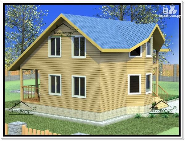 Фото 3: проект дом из бруса 8 × 9