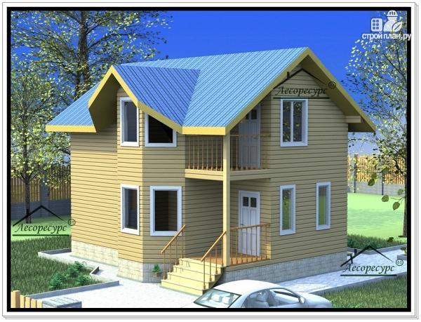 Фото: проект дом из бруса 8 × 9