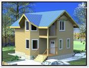 Проект дом из бруса 8 × 9