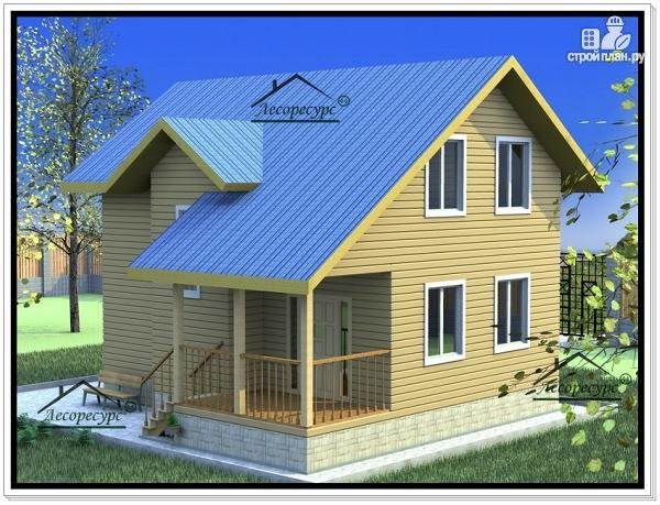 Фото 2: проект дом из бруса 8 × 9