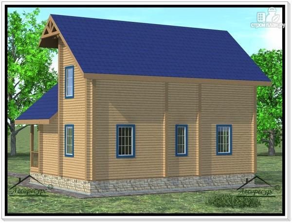 Фото 3: проект дом 8 × 10 с мансардой