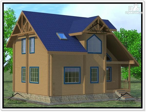Фото: проект дом 8 × 10 с мансардой