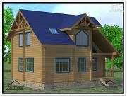 Проект дом 8 × 10 с мансардой