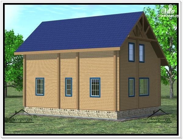 Фото 4: проект дом 8 × 10 с мансардой