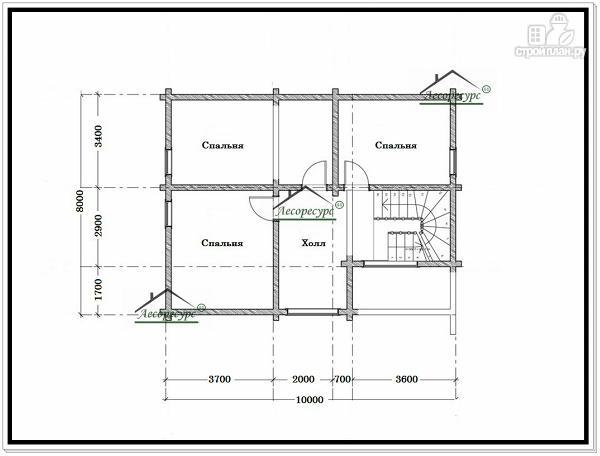 Фото 6: проект дом 8 × 10 с мансардой