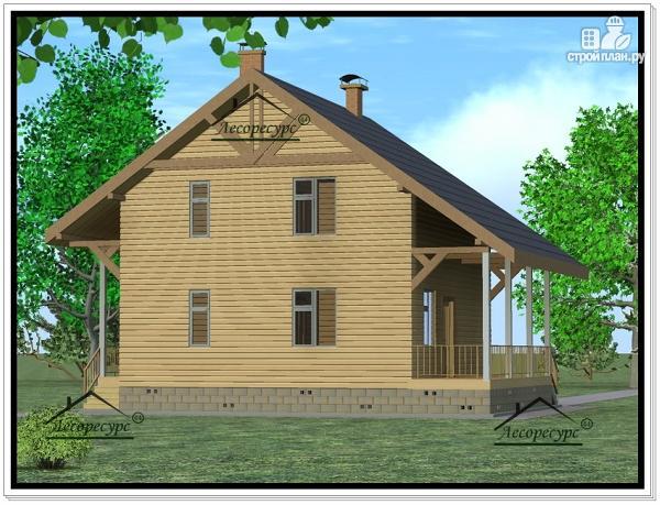 Фото 4: проект дом из бруса 8 × 8
