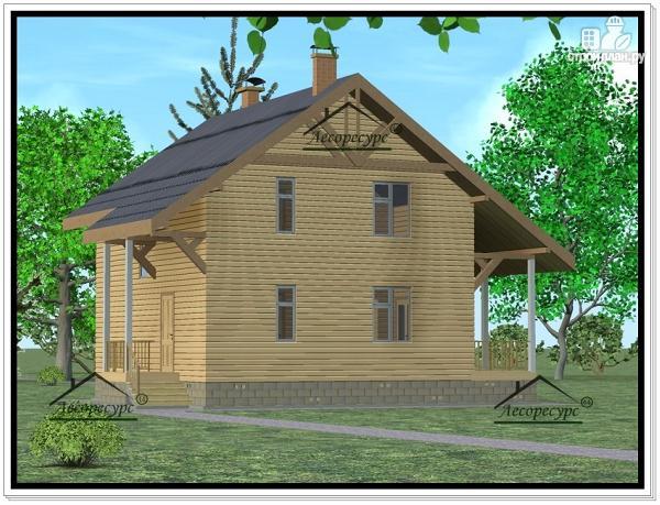 Фото 3: проект дом из бруса 8 × 8