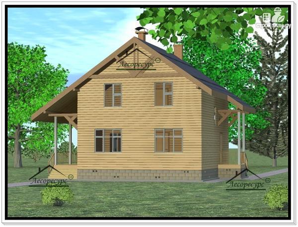 Фото 2: проект дом из бруса 8 × 8