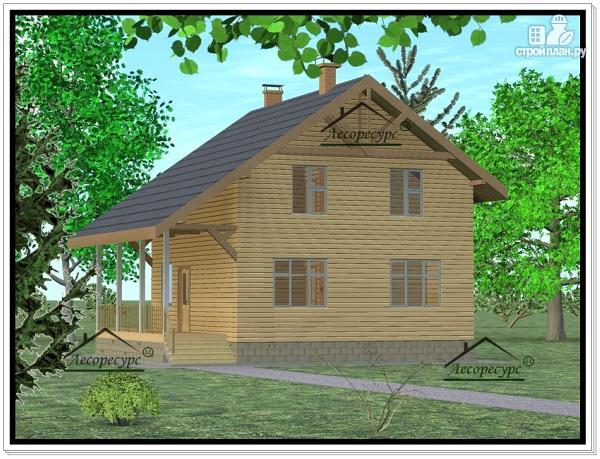 Фото: проект дом из бруса 8 × 8