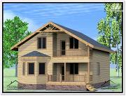 Проект дом из бруса 9 на 14