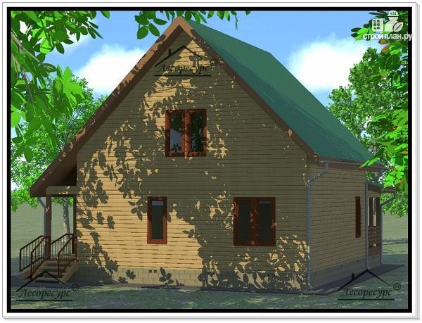 Фото 3: проект дом из бруса 9×11