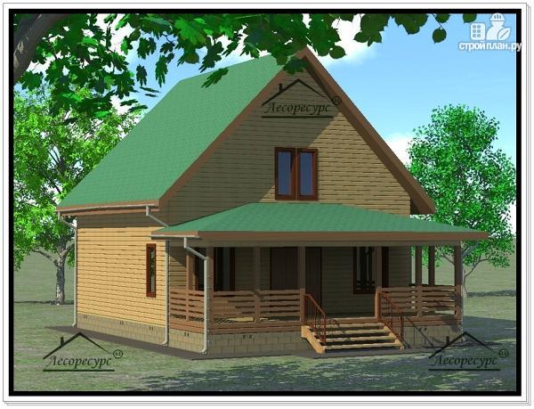 Фото 2: проект дом из бруса 9×11