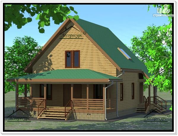 Фото: проект дом из бруса 9×11
