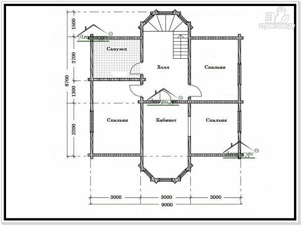 Фото 6: проект дом с двумя эркерами